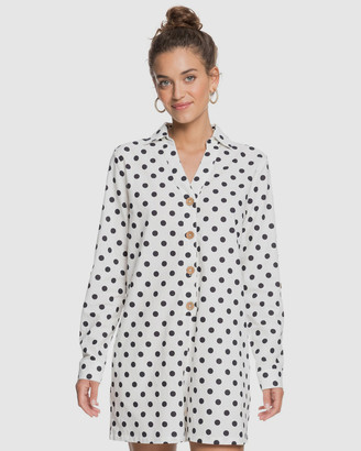Roxy Womens Sound Of Goodbye Long Sleeve Shirt Playsuit