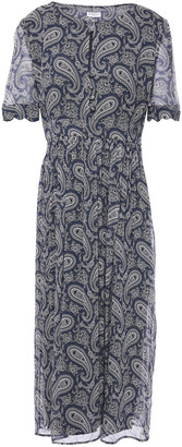 Claudie Pierlot Gathered Printed Georgette Midi Dress