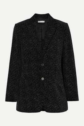 Bella Freud Allen Oversized Glittered Cotton-velvet Blazer - Black