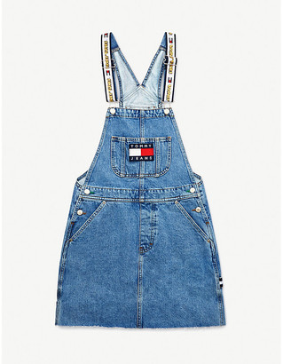 Tommy Jeans Looney Tunes x graphic-embroidered denim mini dress