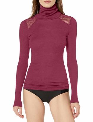 Hanro Women's Rubina Lace Turtleneck Shirt