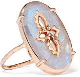 Pascale Monvoisin Sunday 9-karat Rose Gold And Moonstone Ring
