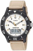 Timex Men's TW4B16800 Expedition Katmai Combo 40mm Khaki/Black/Natural Nylon Strap Watch