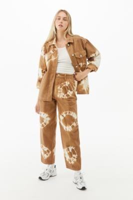 BDG Erin Brown Tie-Dye Cocoon Jeans - Brown 24 at Urban Outfitters