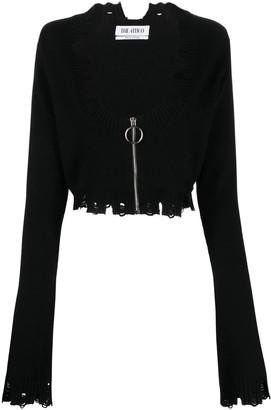 ATTICO Black Wool Cardigan