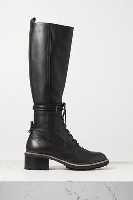 Chloé Franne Laser-cut Leather Knee Boots - Black
