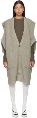 Maison Margiela Grey Gauge 3 Felted Cardigan