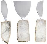 "ANNA by RabLabs Gemstone Cheese Knives Set ""Kiva"""