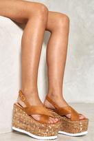Nasty Gal nastygal Wood If I Could Platform Sandal