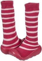 Jo-Jo JoJo Maman Bebe Striped Slipper Socks (Toddler/Kid)-Pink-7-8 Years