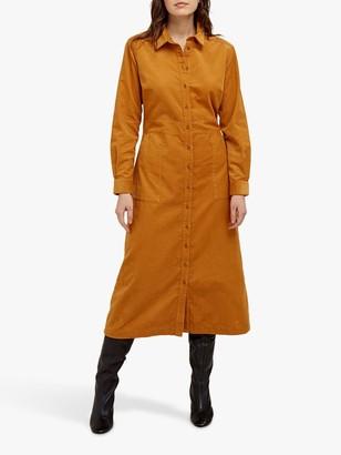 People Tree Aona Shirt Midi Dress, Brown