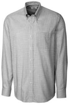 Cutter & Buck Men's Long Sleeve Tattersall Shirt