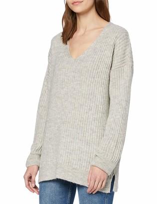 New Look Women's V NECK RIB LL JUMPER Sweater