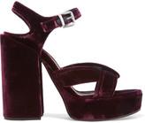 Jil Sander Velvet Platform Sandals - IT37