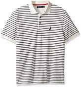 Nautica Men's Short Sleeve Striped Polo Shirt