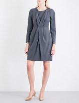 Armani Collezioni Wrap-front woven dress