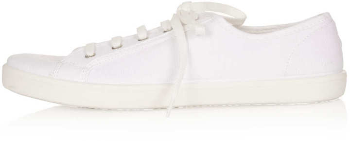 Topshop TINIE Canvas Lace Up Pumps