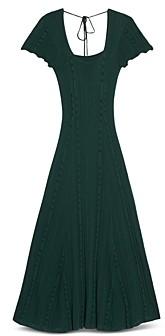 Sandro Marly Mixed Knit Tie Back Dress