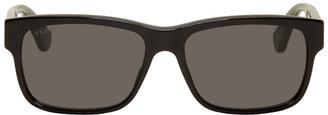 Gucci Black Striped Temples Sunglasses