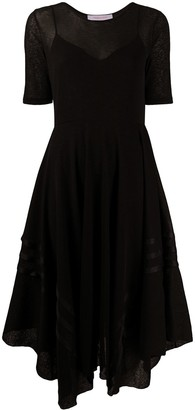 See by Chloe Asymmetric Hem Skater Dress