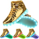 OUYAJI 11 Mode LED Flashing Shoes Light Up Walking Dancing Sneakers Valentine's Day Gift 38