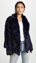 Adrienne Landau Rabbit Pea Coat