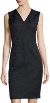 Lafayette 148 New York Kendall Sleeveless Sheath Jacquard Dress, Black