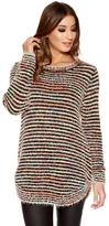 Quiz Multi Coloured Fuzzy Knit Jumper