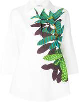 Akris leaf print blouse