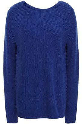 Autumn Cashmere Wrap-effect Ribbed Cashmere Sweater