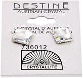 Crystallite Destine Multiple Edge Crystal Earrings