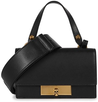 Alexander McQueen Black leather cross-body bag
