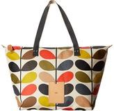 Orla Kiely Matt Laminated Classic Multi Stem Zip Shopper Tote Handbags