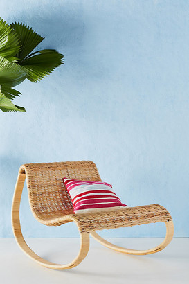 Anthropologie Rattan Rocking Chair By in Beige Size ALL