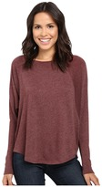 Lilla P Peached Knit Easy Scoop Neck Raglan