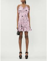 Les Rêveries Ruffle silk mini dress