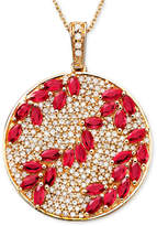 Effy Rosa by Ruby (3-1/3 ct. t.w.) & Diamond (9/10 ct. t.w.) Pendant in 14k Rose Gold