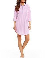 Lauren Ralph Lauren Classic Striped Pique Sleepshirt