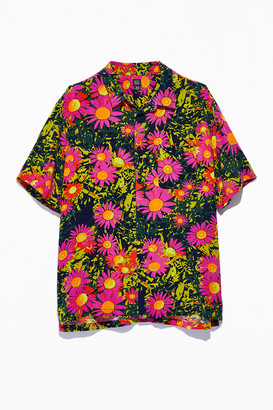 BDG Floral Short Sleeve Button-Down Shirt