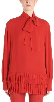 Valentino Frill Trim Pussybow Blouse