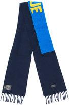 Fendi Blue embroidered scarf