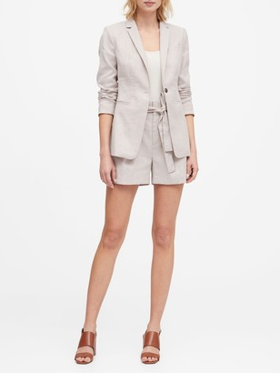 Banana Republic Petite Long & Lean-Fit Linen-Cotton Blazer