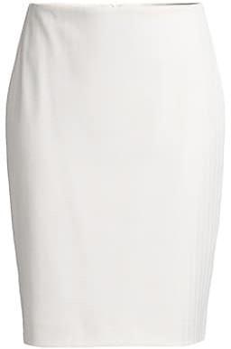 HUGO BOSS Vikena Structured Herringbone Jersey Pencil Skirt
