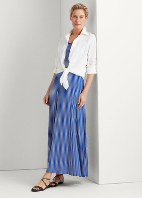Ralph Lauren Striped Cotton-Blend Maxidress