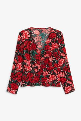 Monki Shirred blouse