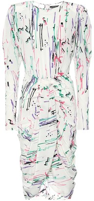Isabel Marant Frea printed stretch-silk midi dress