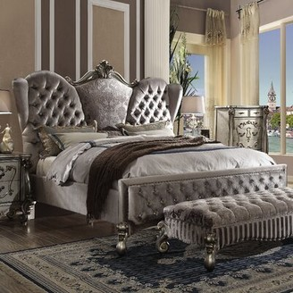 Rosdorf Park Doline Tufted Upholstered Bed Size: King, Color: Gray