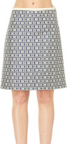Max Studio Jacquard A-Line Skirt