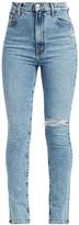 J Brand 1212 Runway High-Rise Slim-Straight Jeans
