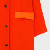 Paul Smith Women's Burnt Red Wool-Viscose Twill Coat